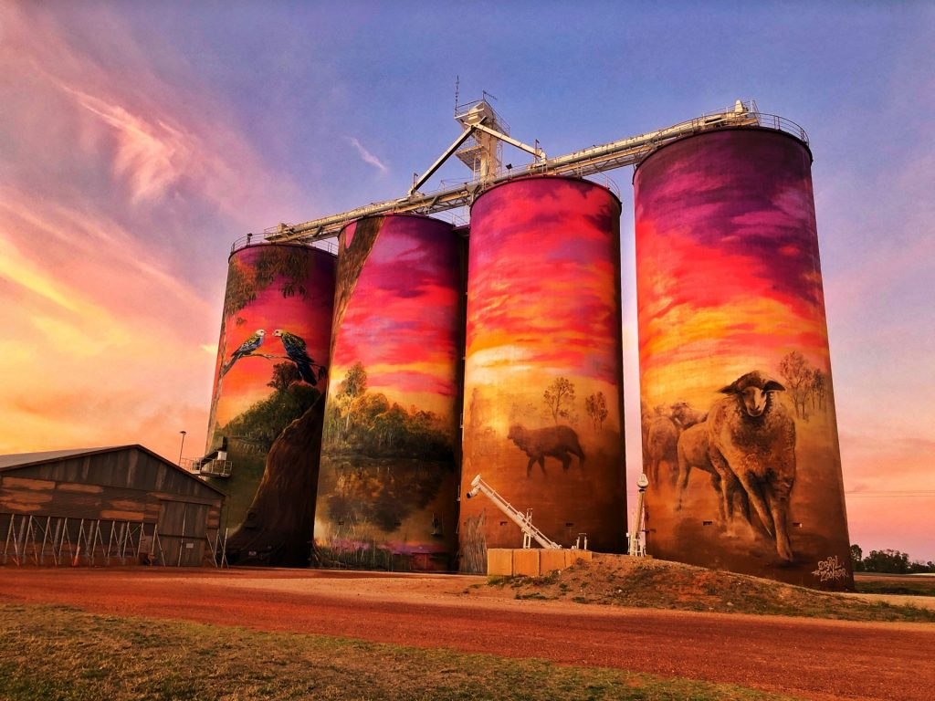 Thallon Silo Art